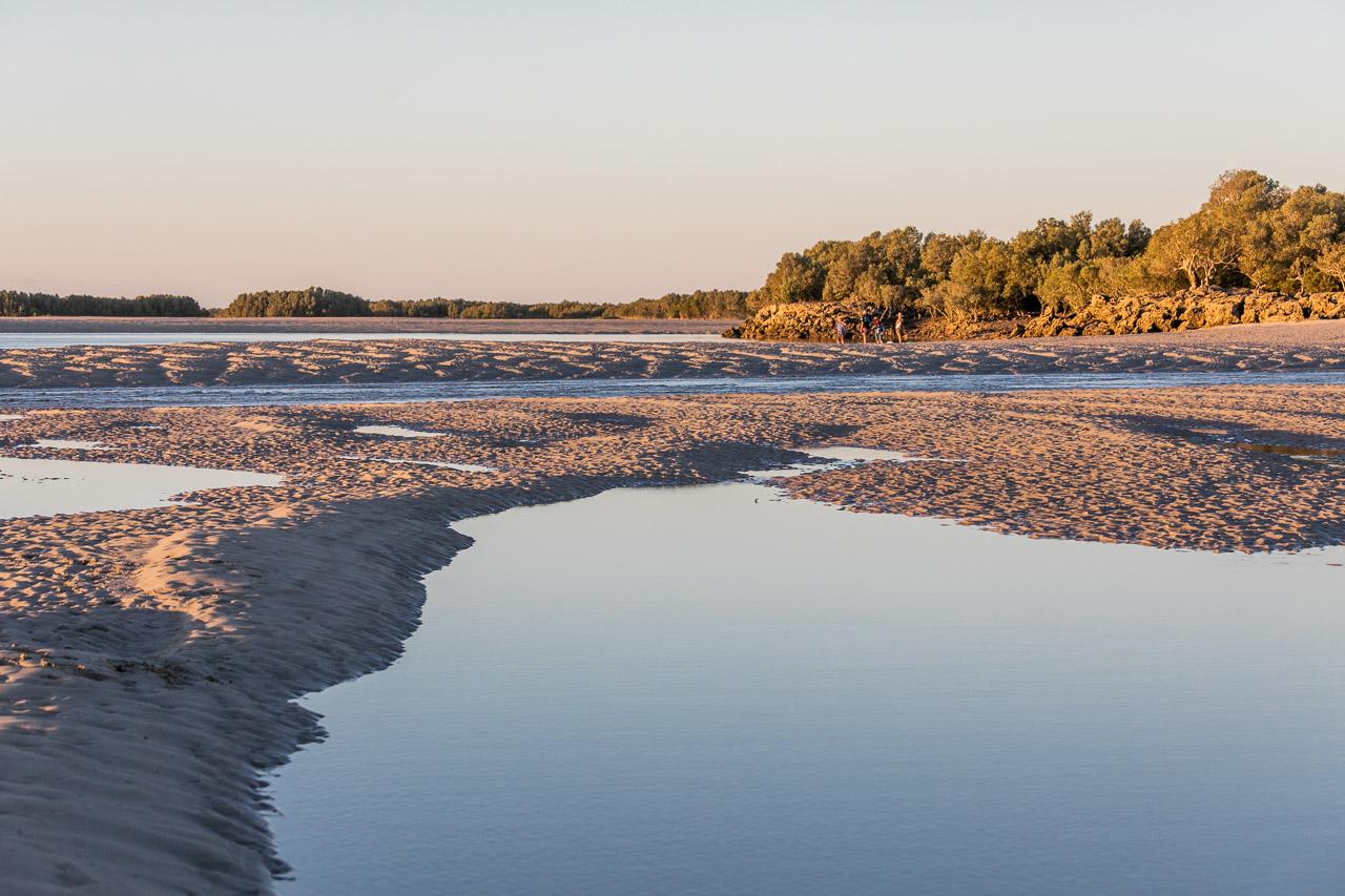 Sand patterns at sunset in the Pilbara