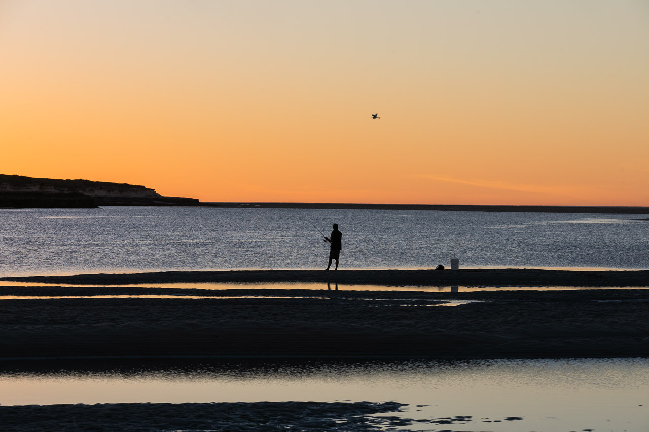 Fishing at sunset in the Pilbara WA