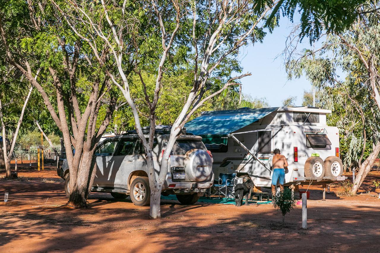 Campground at Port Smith Caravan Park in the Pilbara, WA