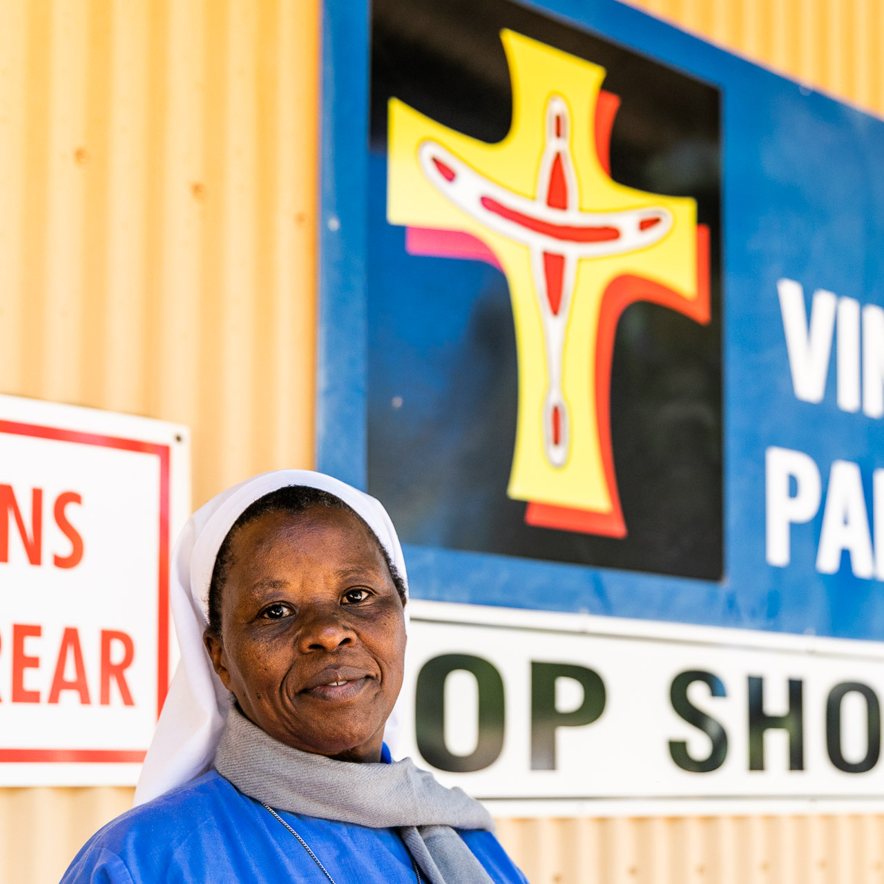 Sister Mary is in Broome from Kenya for four years, working at the St Vinnies Op Shop
