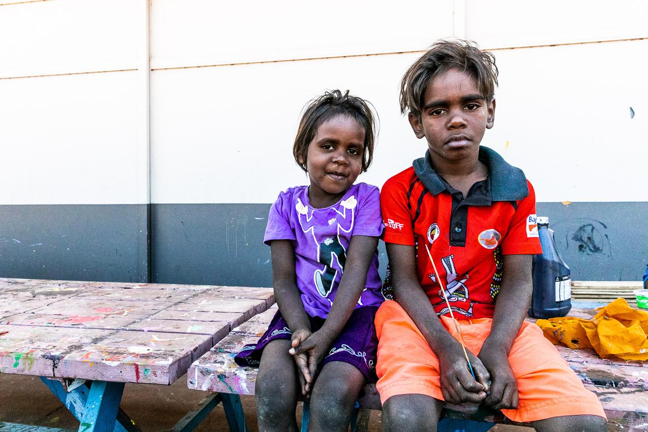 Two Aboriginal children in the Kimberley
