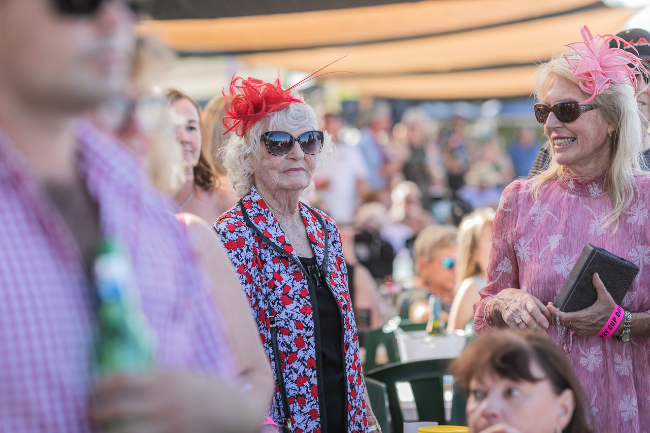 Fascinators and hats at the Derby Cup Race Day in Western Australia