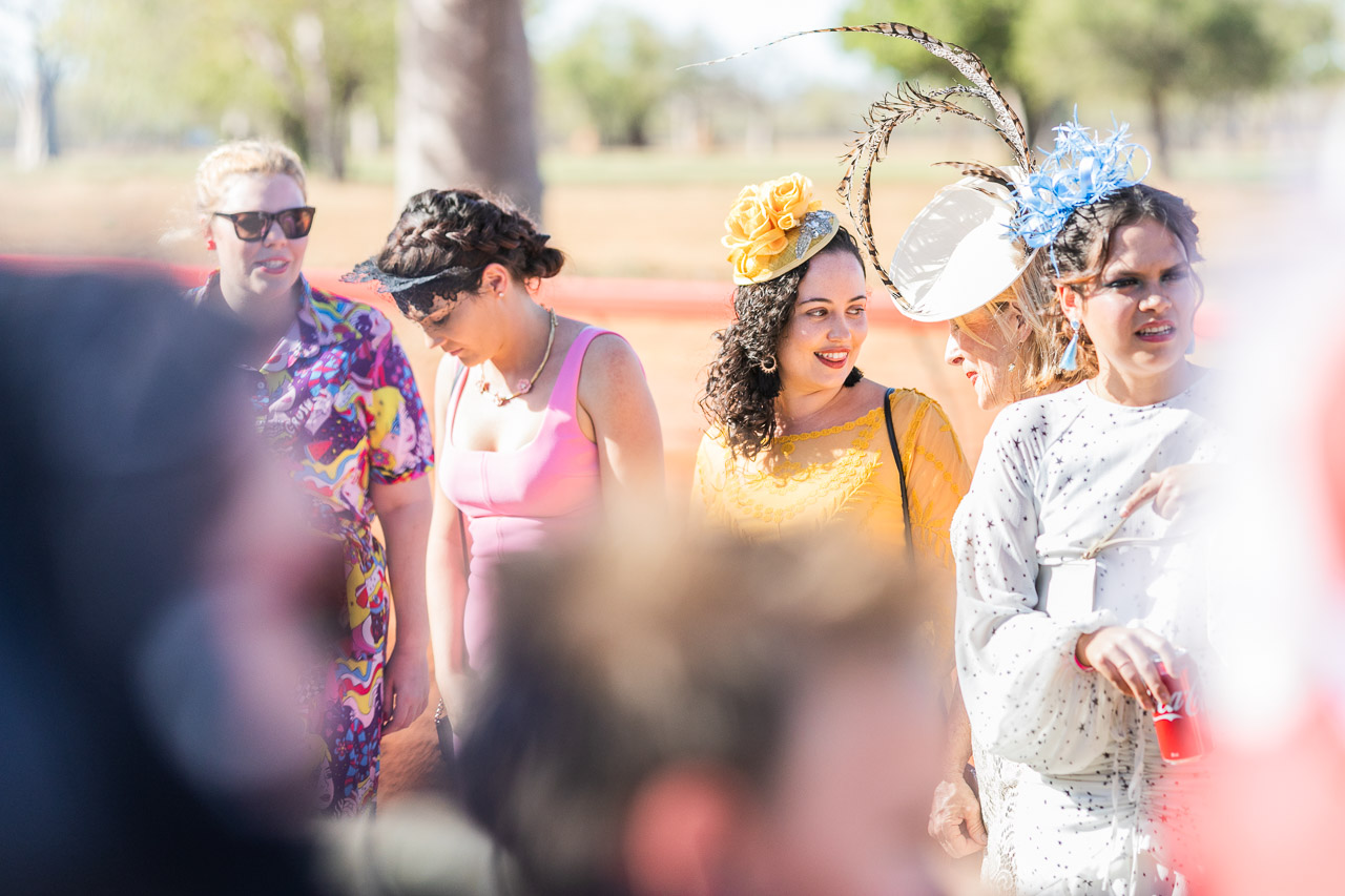 Entrants in the Best Dressed competition at the Derby Races in WA