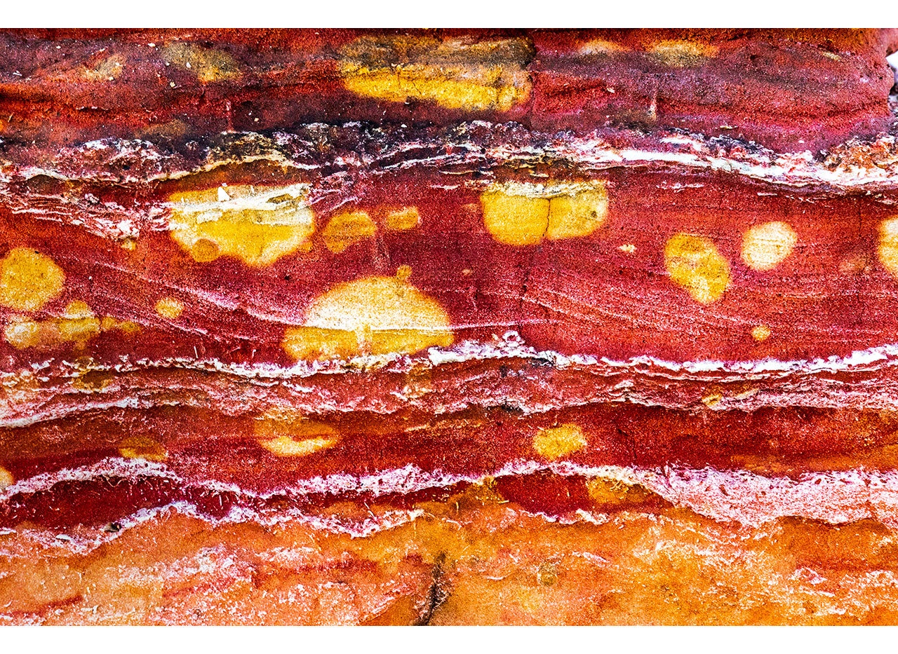 Rock patterns and colours to be found in Broome, Western Australia