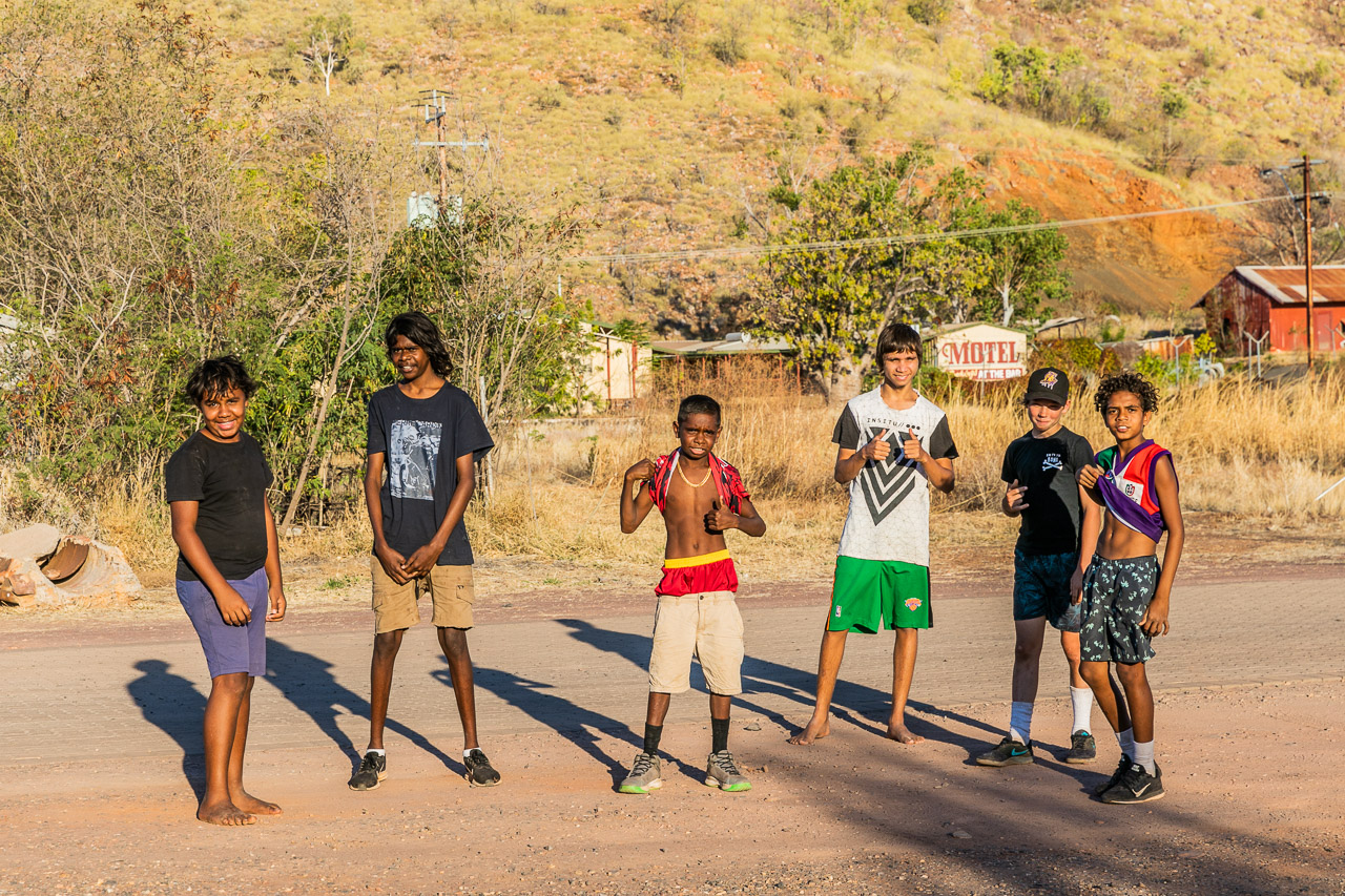 Aboriginal boys in Wyndham, Western Australia