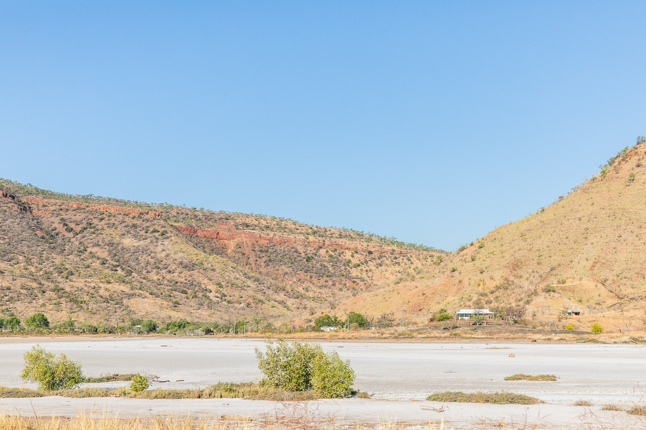 Looking across the salt flats to the Gully in Wyndham Port, Western Australia