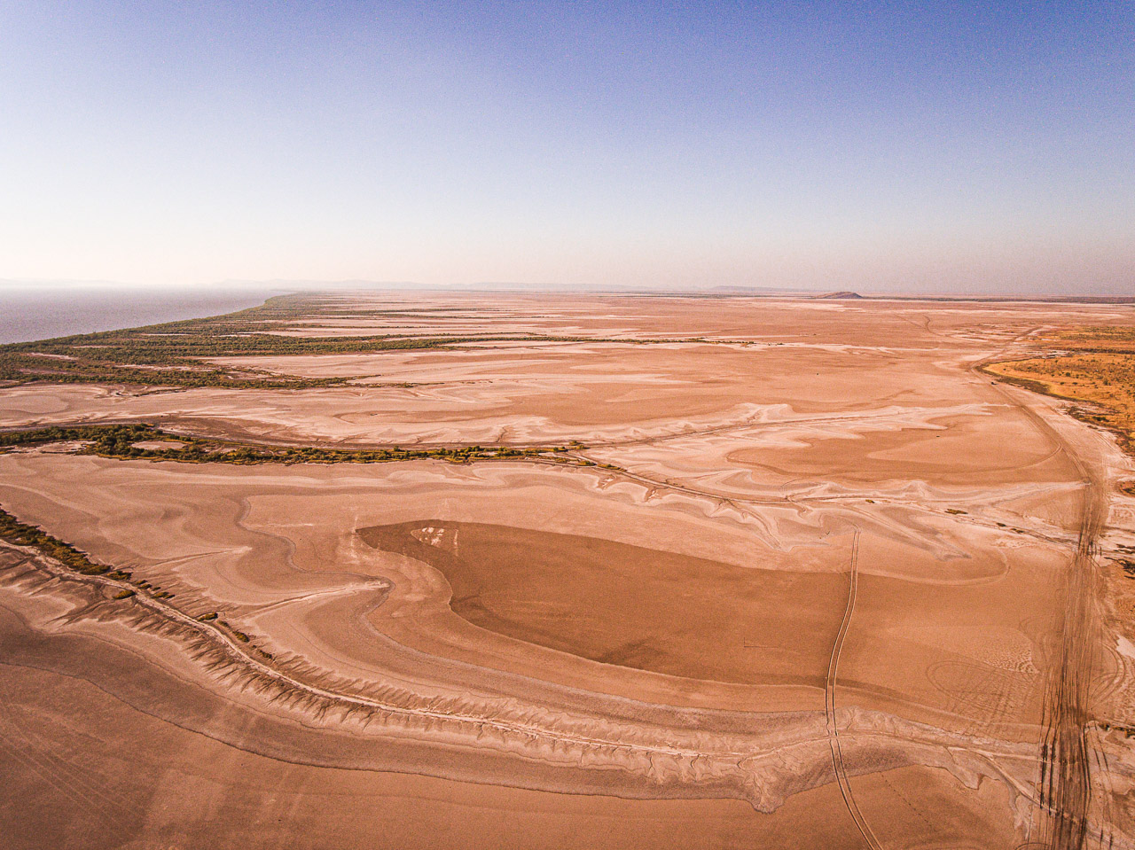 Drone image of the tidal plains in Wyndham in WA's Kimberley region