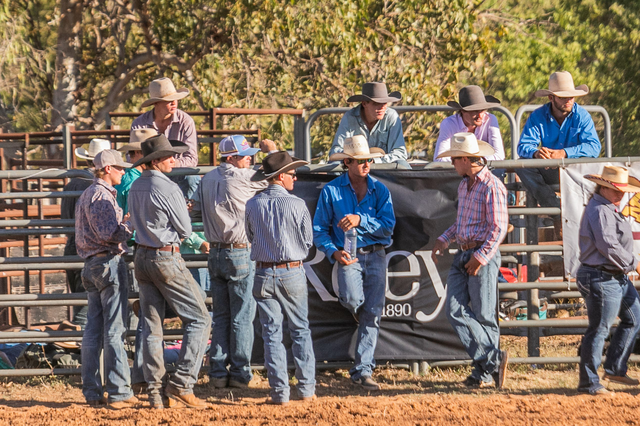 Australian cowboys at the rodeo