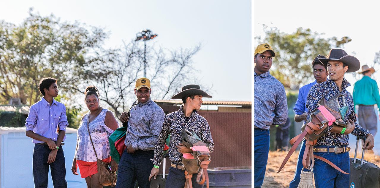 Young Aboriginal rodeo rider