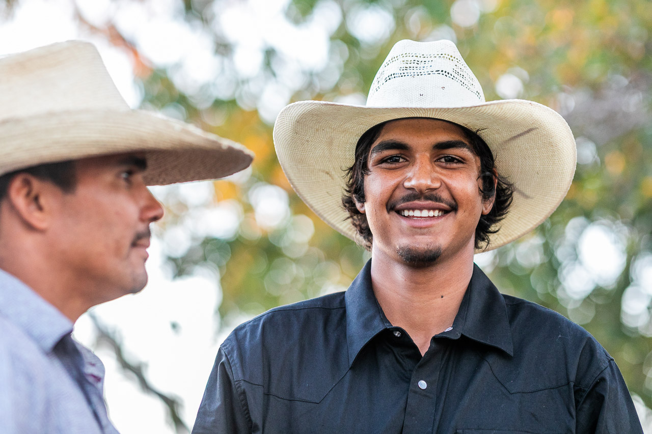 Catching up with friends at the Broome Rodeo, Western Australia