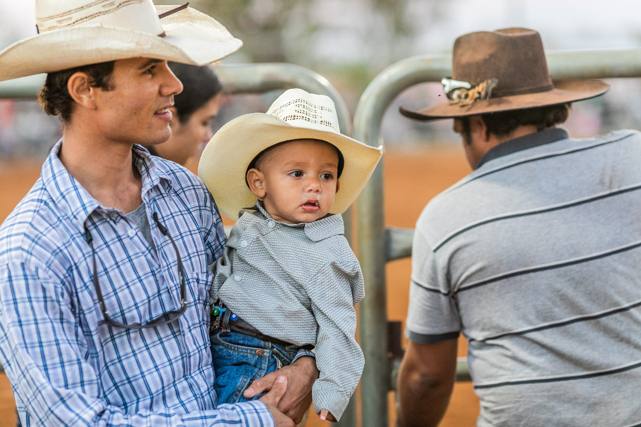 Father and son cowboys at the Broome Rodeo