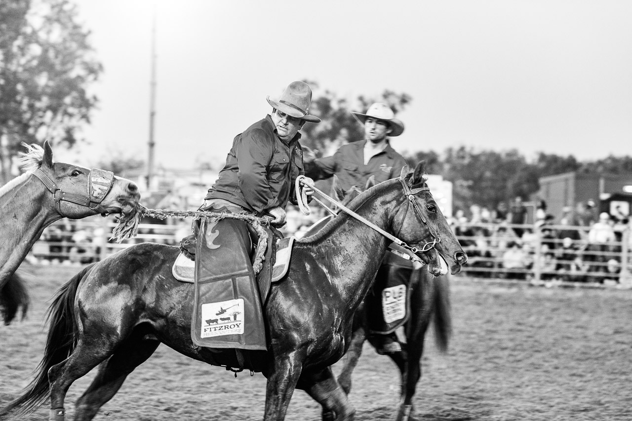 The wranglers at the Broome Rodeo
