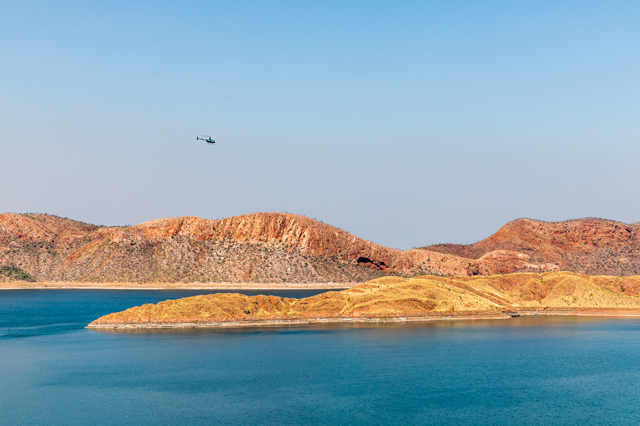 Lake Argyle in the far north Kimberley region of WA
