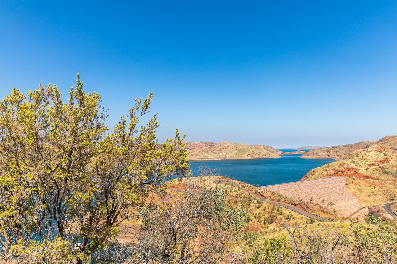Lake Argyle is a huge man-made lake, now home to thousands of freshwater crocodiles