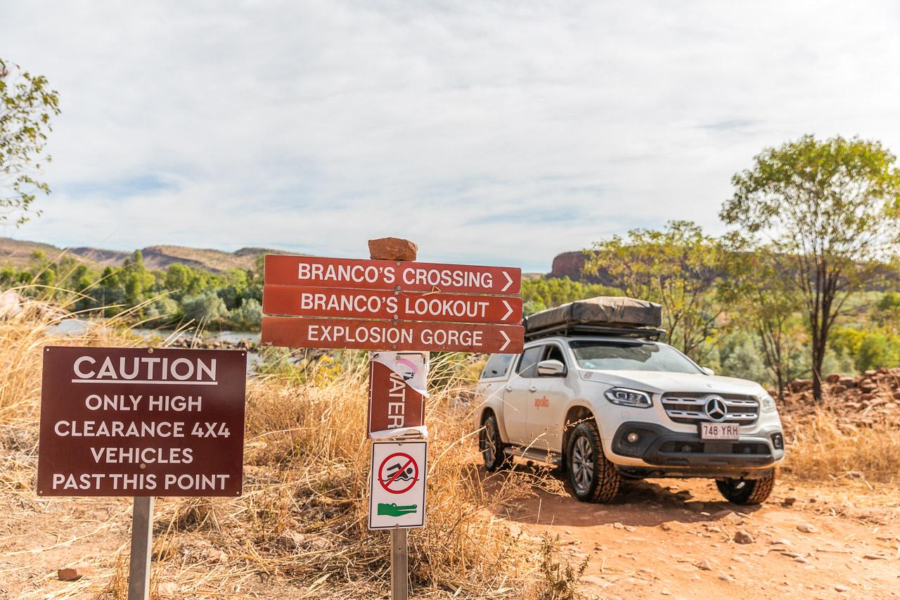 Four wheel-driving at El Questro in Western Australia