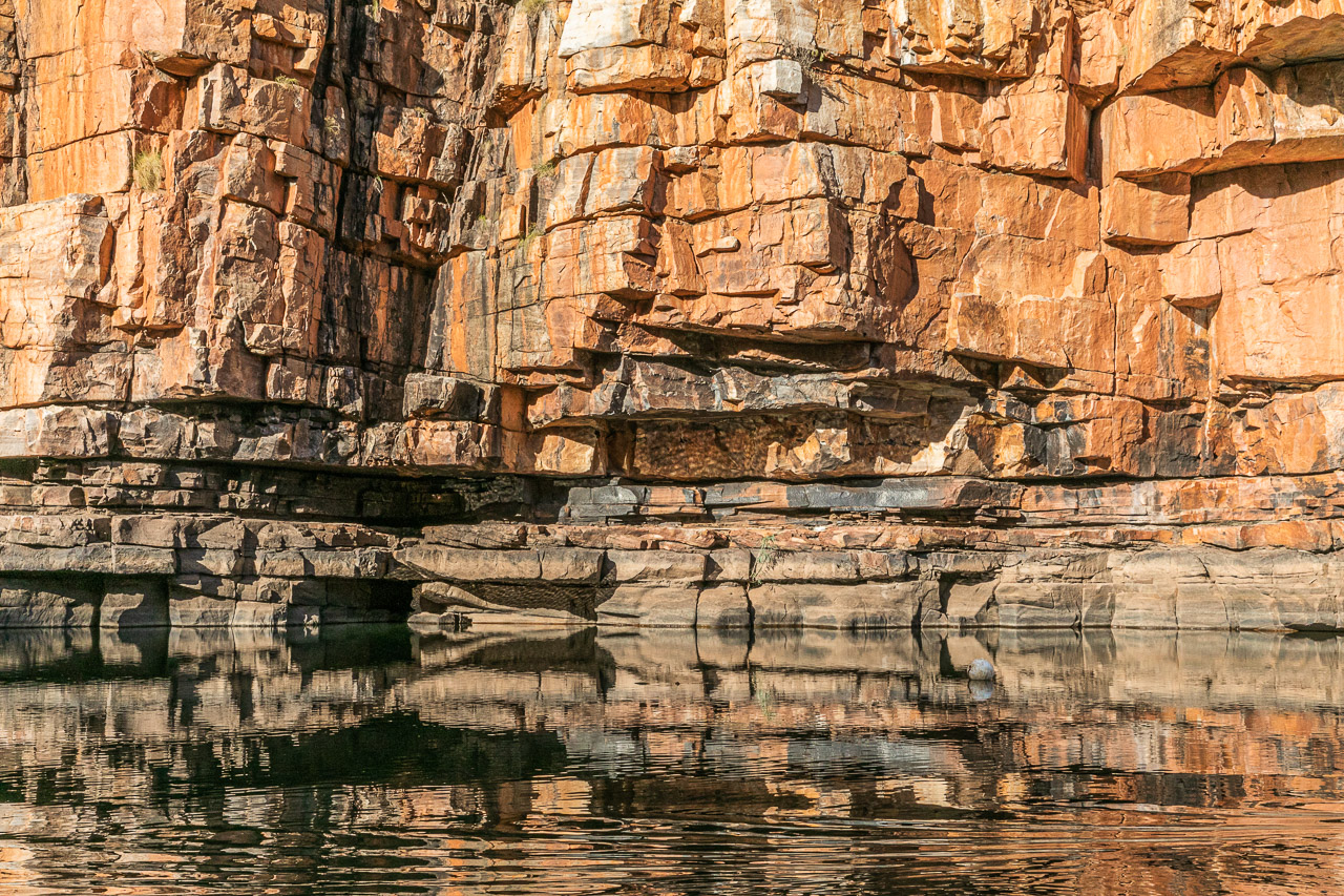 Rock reflections in Chamberlain Gorge, Western Australia