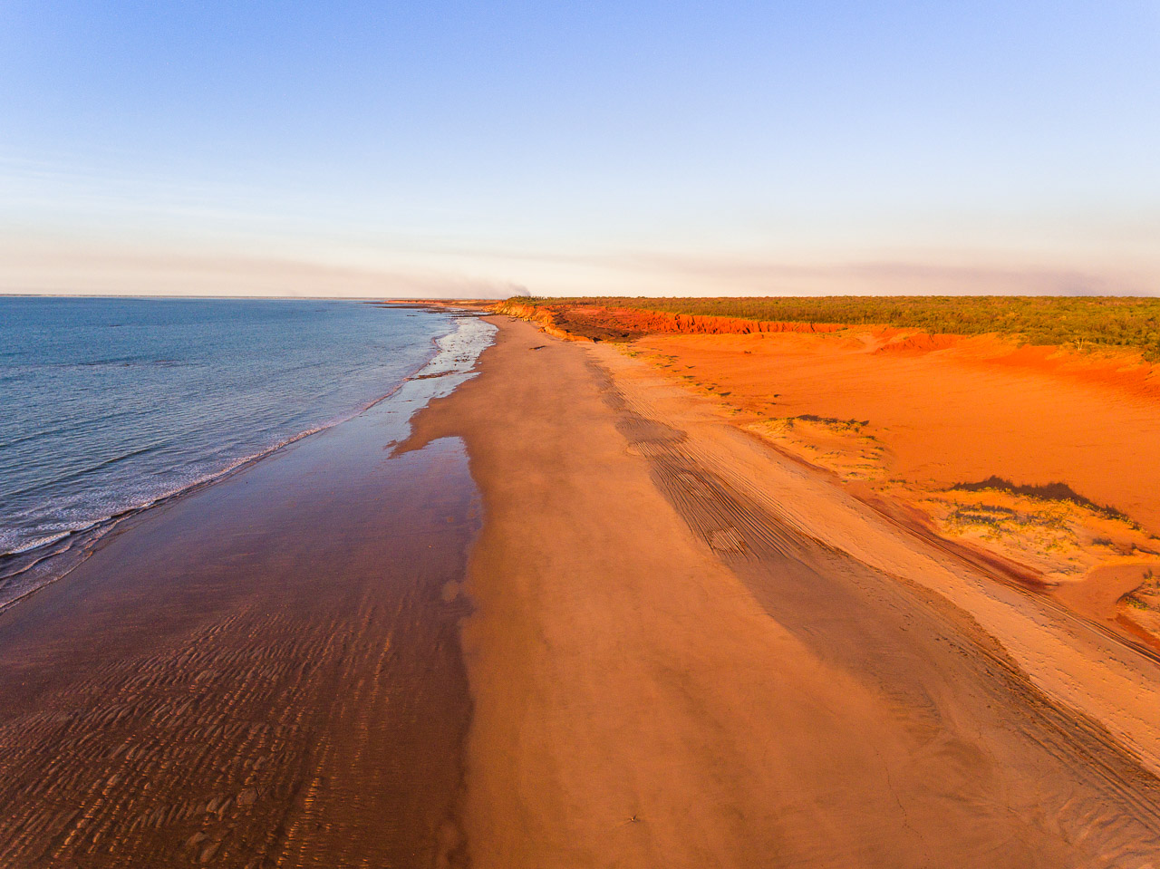 Drone image of the coast on the Dampier Peninsula