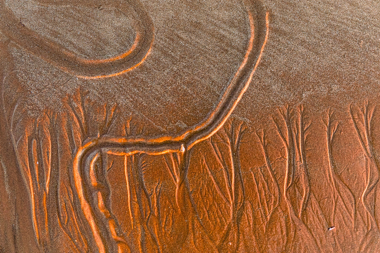 Sand textures and patterns on the Kimberley coast in Western Australia
