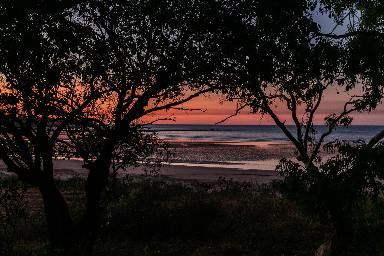 Sunset at the bush camp