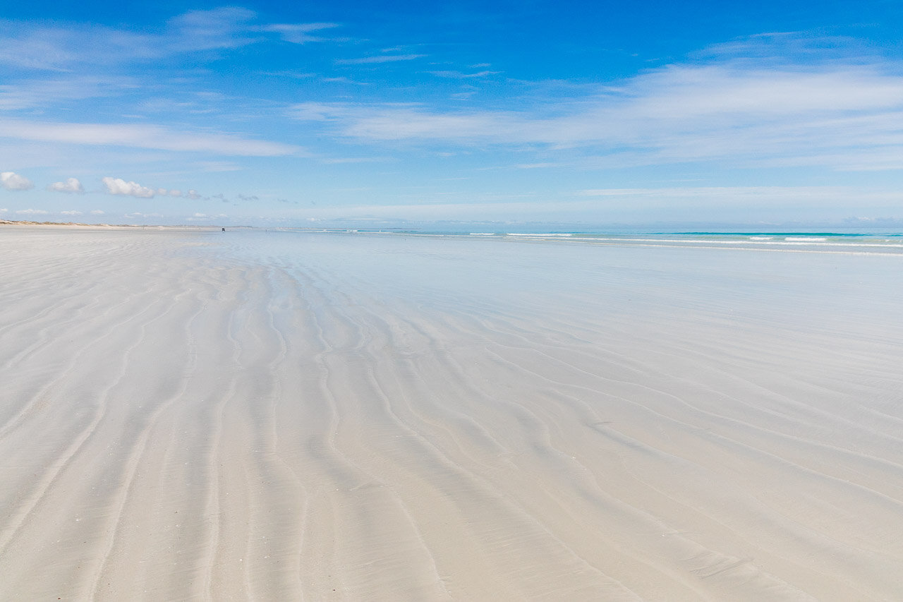 Sand patterns on Cable Beach in Broome