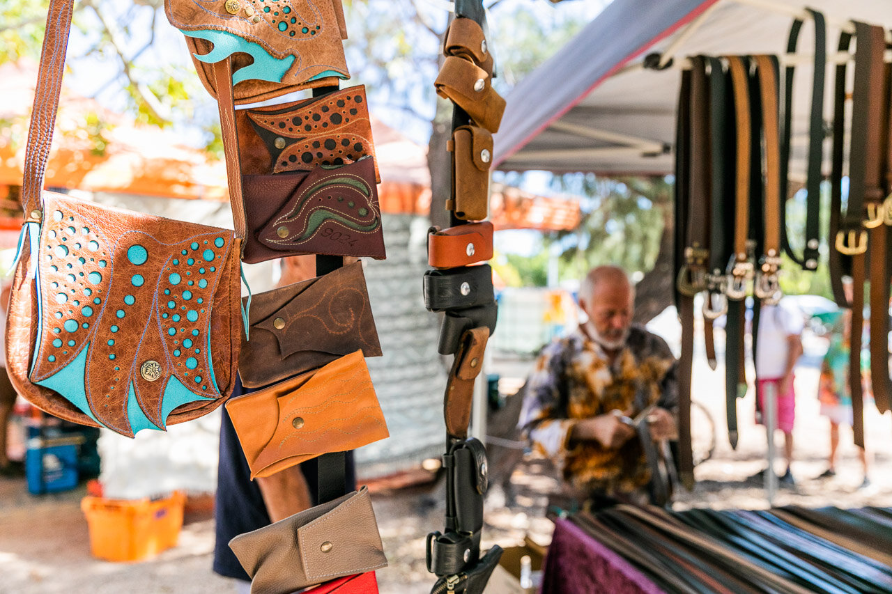 Beautiful leather work at Broome's Court House Market