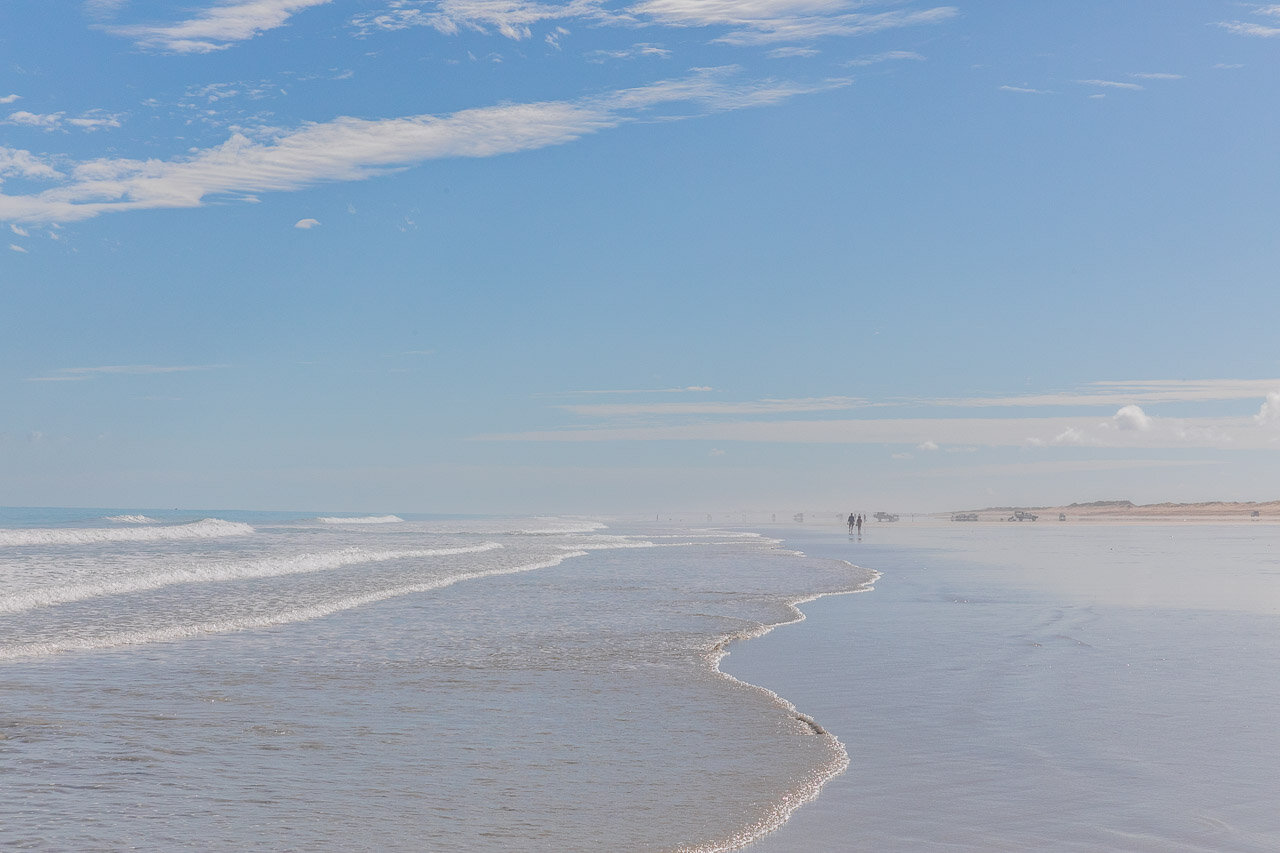 Miles of white sand at Cable Beach in Broome