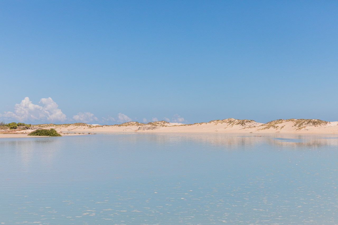 The incoming tide at Coconut Wells Lagoon near Broome