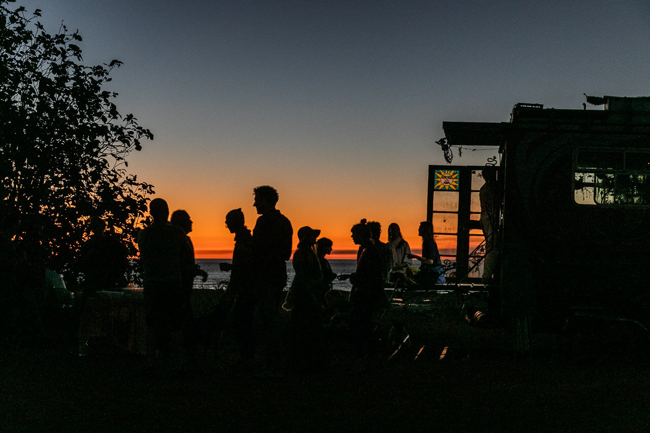 Social gatherings at sunset in Broome