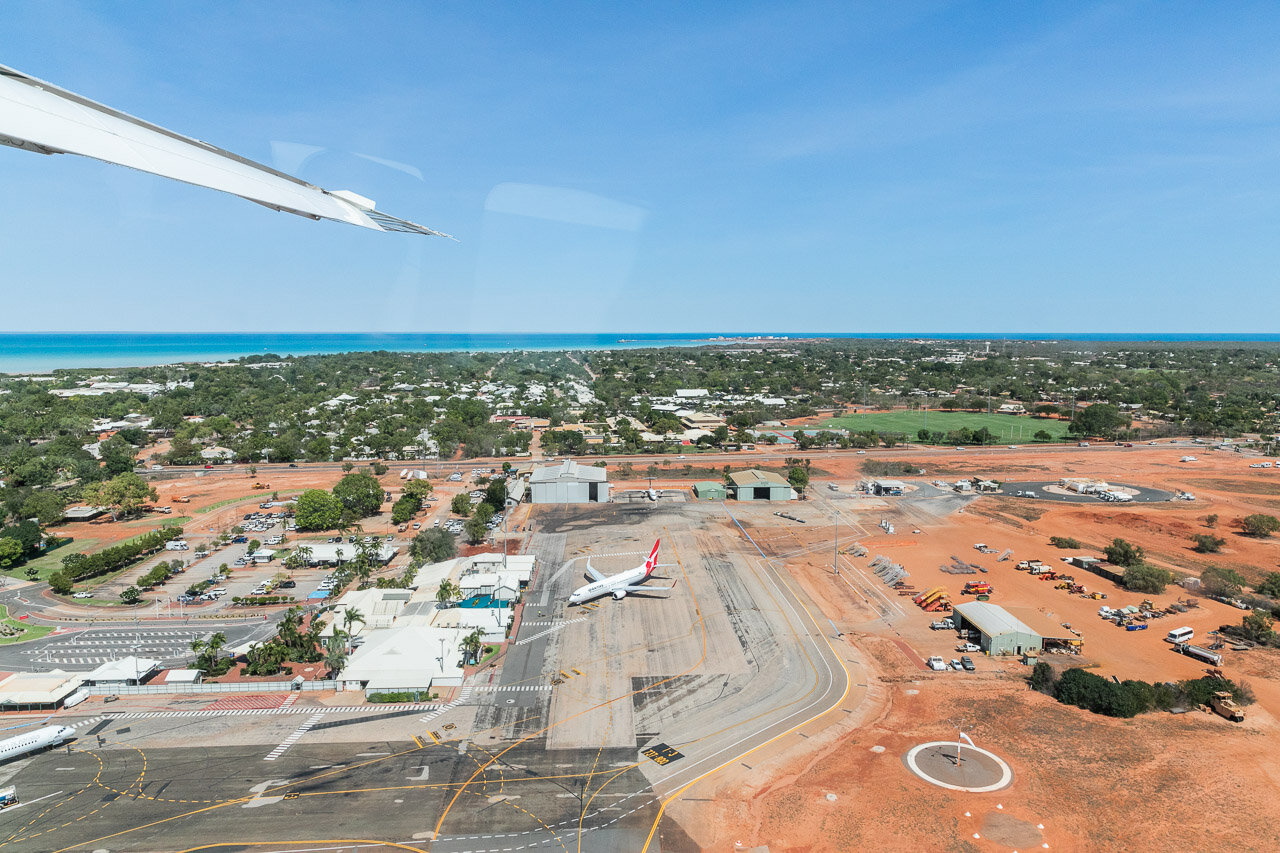 View over Broome from a sea plane