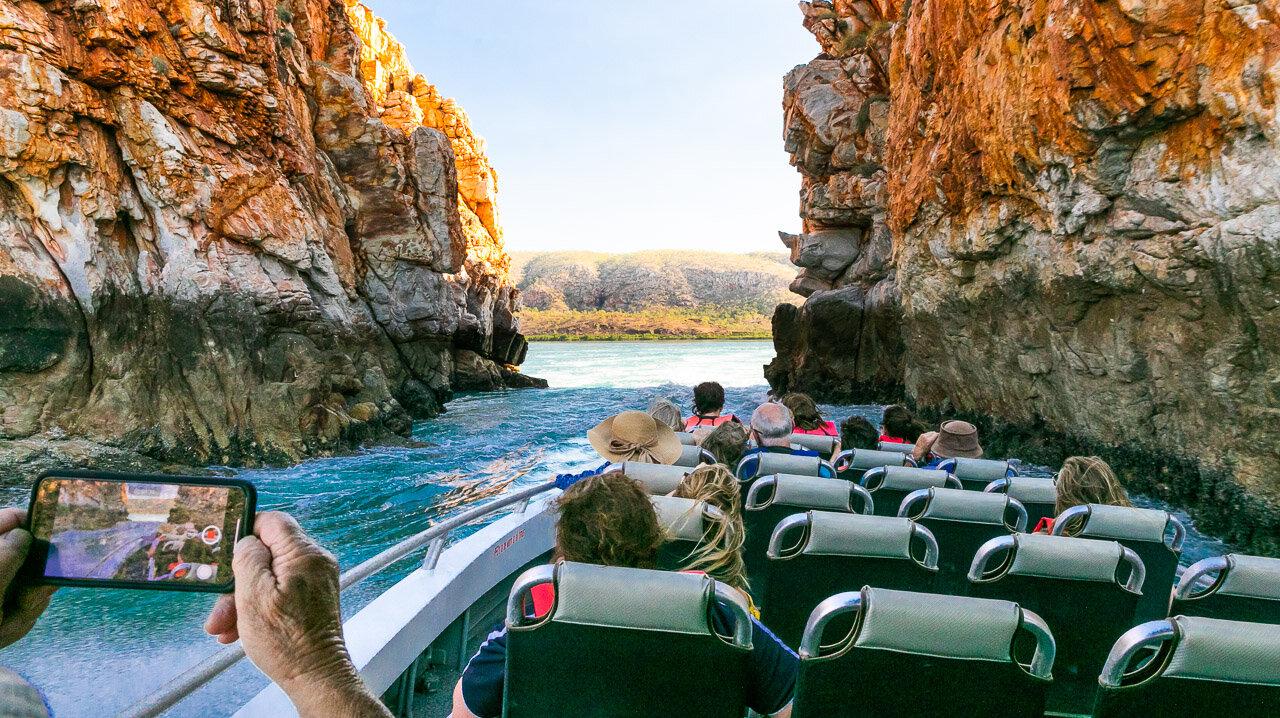Going through the Horizontal Falls in Western Australia