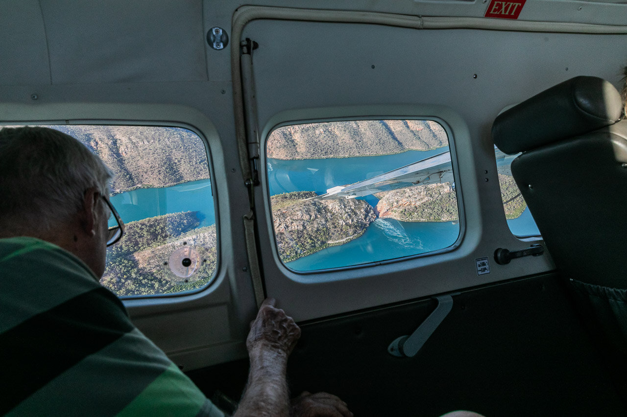 View from the sea plane of the Horizontal Falls