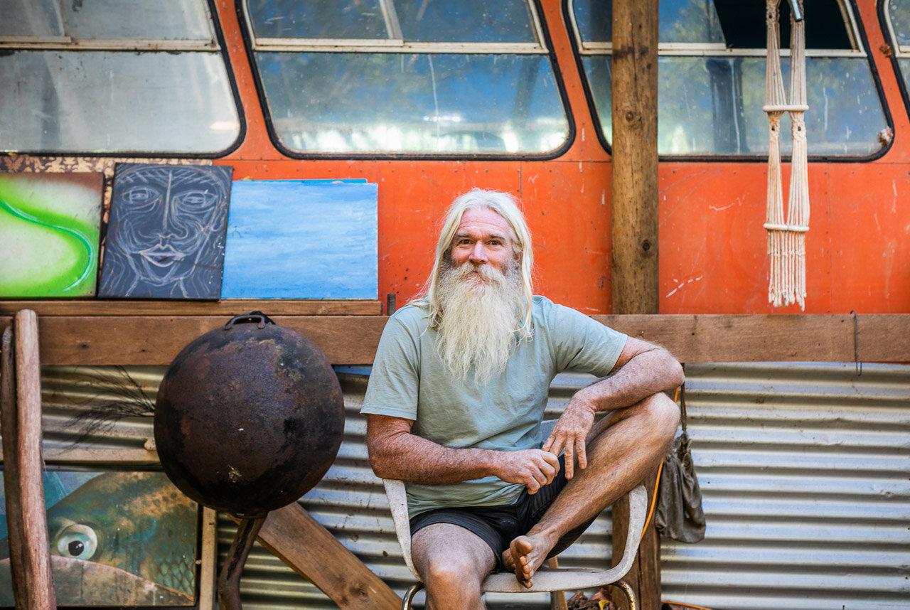 A portrait of Greg Quicke aka Space Gandalf