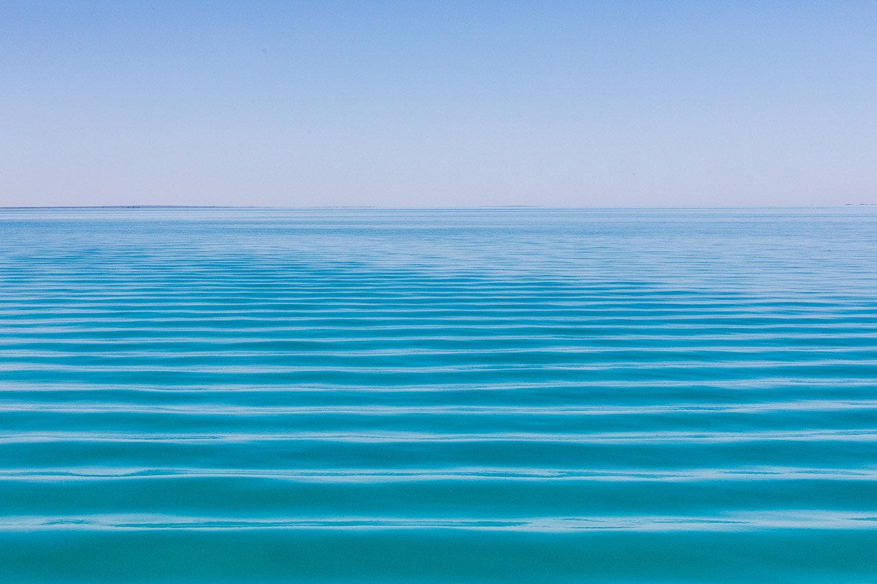 Water patterns in Roebuck Bay