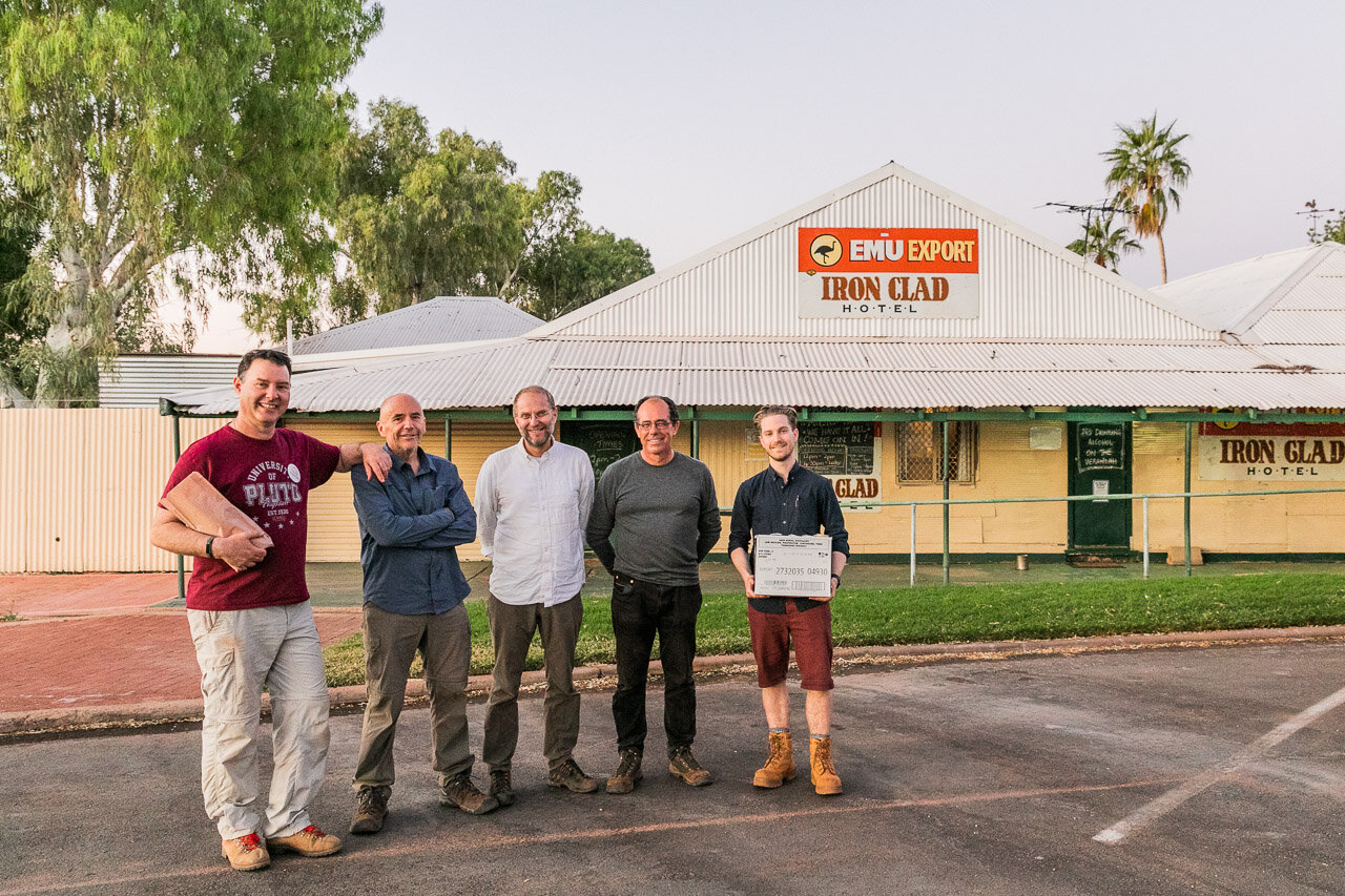 Five NASA scientists walk into a bar… outside the Iron Clad Hotel in Marble Bar