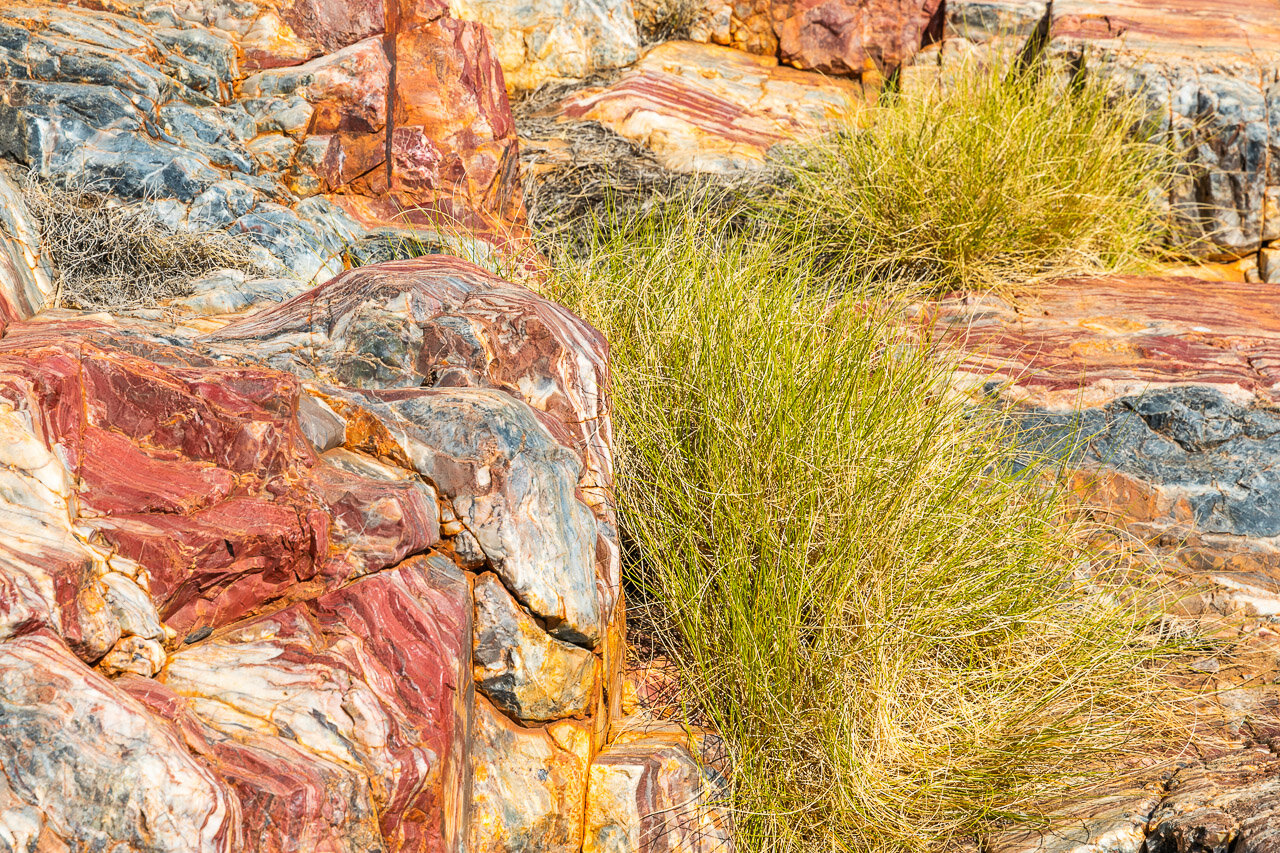 The amazing colours of jasper in Marble Bar, outback Western Australia