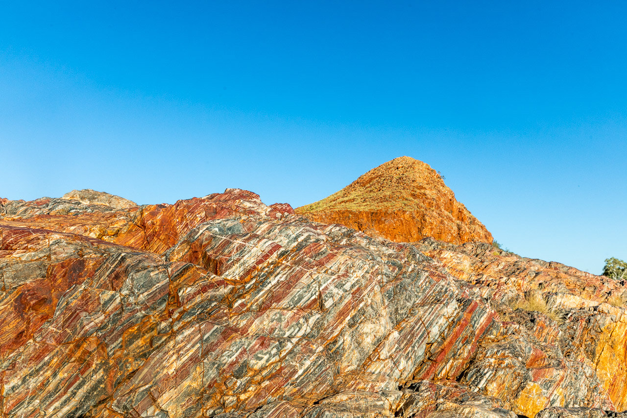 Bands of jasper at Marble Bar Pool in outback Western Australia