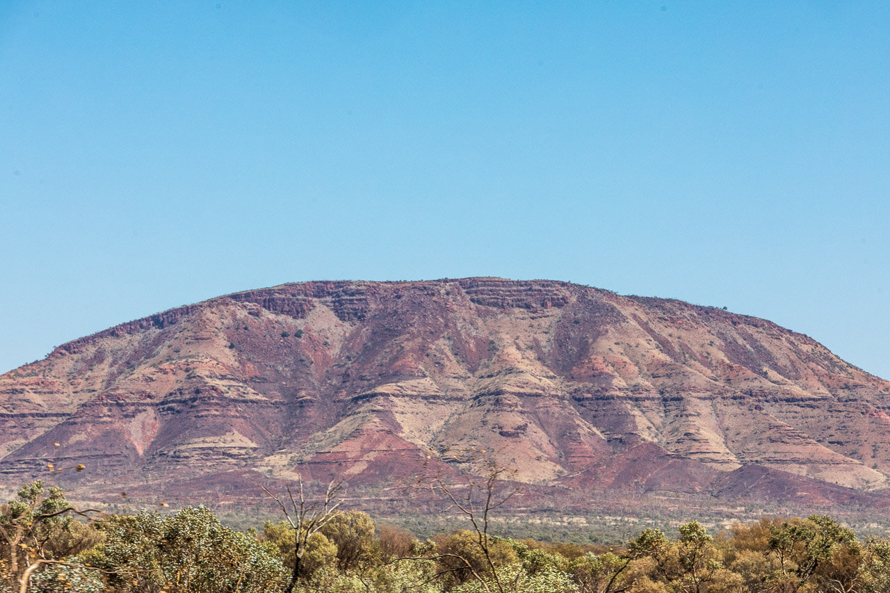 View from the passenger window on the road from Newman WA