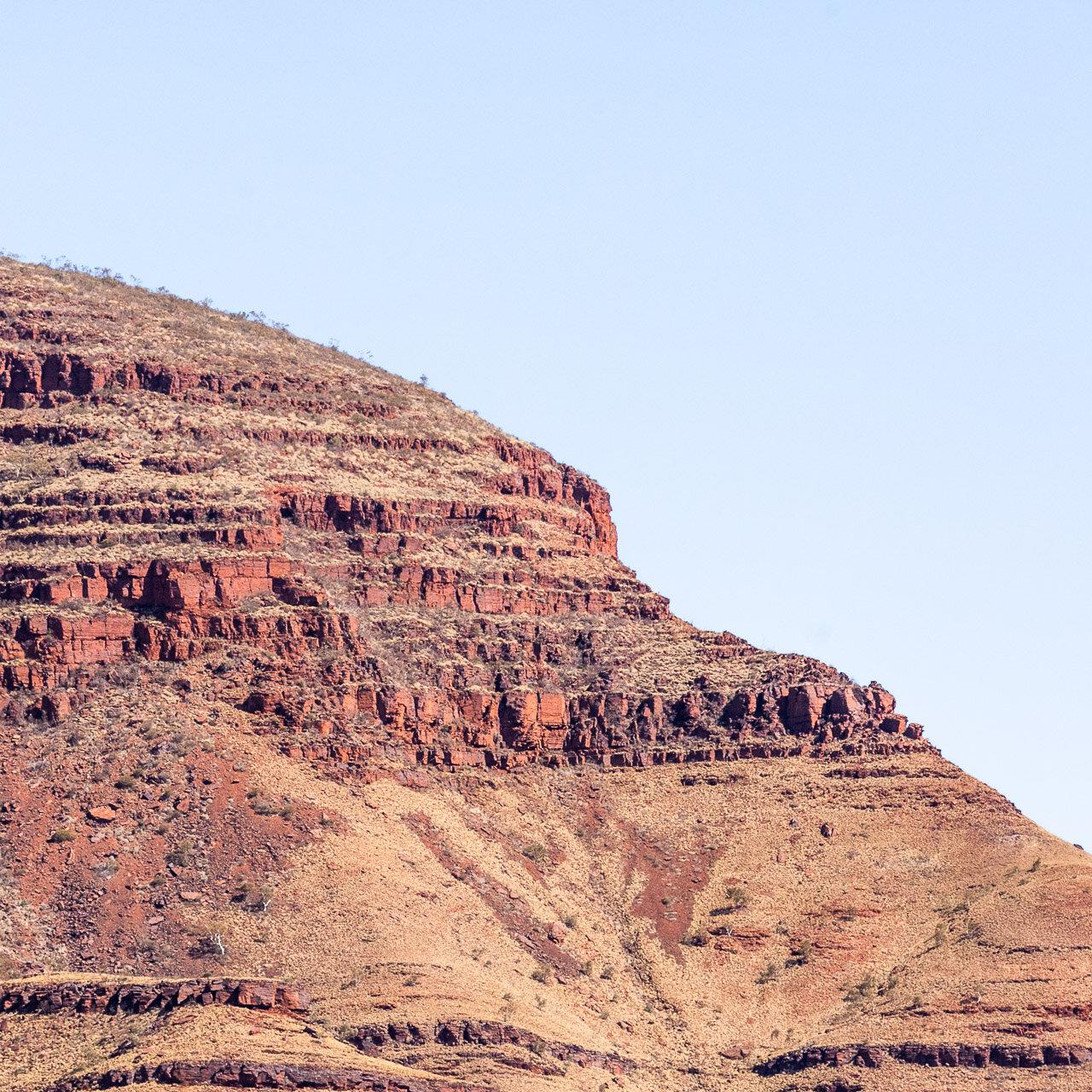 Rock formations in Karijini National Park in the Pilbara region of Western Australia