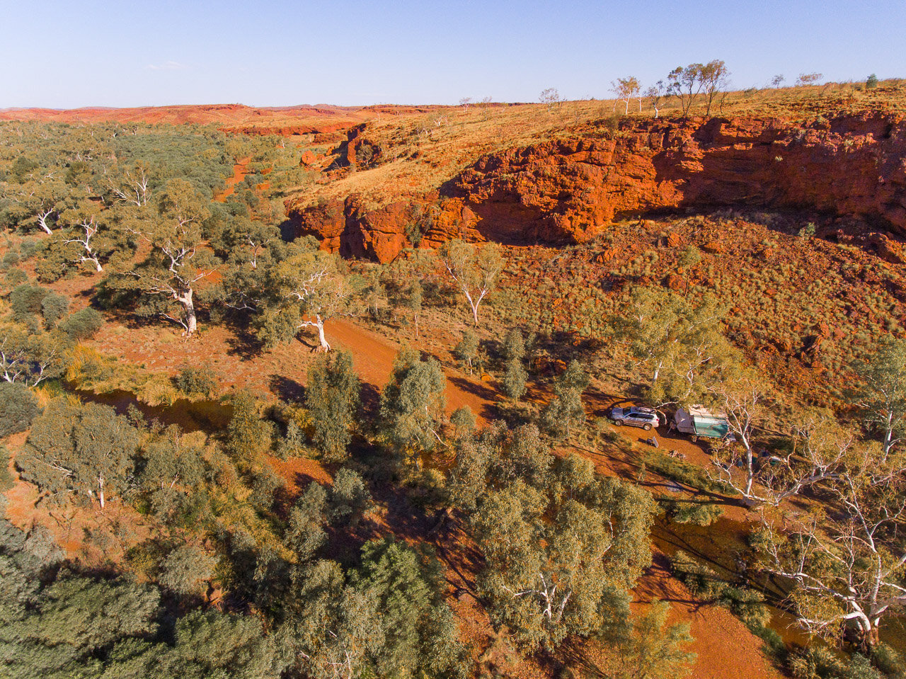 It's still possible to find secluded bush camps in WA's Pilbara region