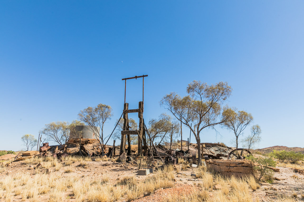 An old gold mine shaft in the Pilbara