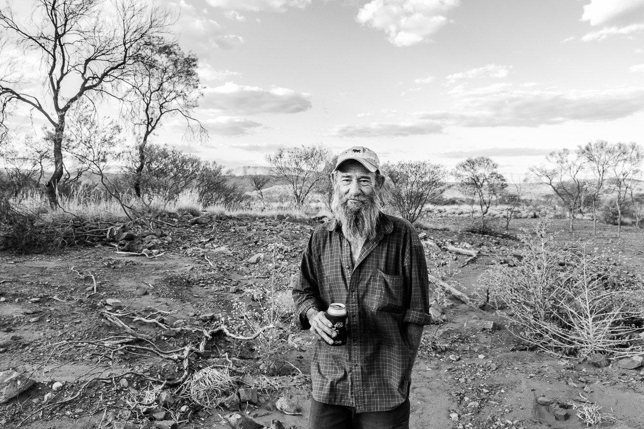 Gold prospector Johnny Day in the Pilbara