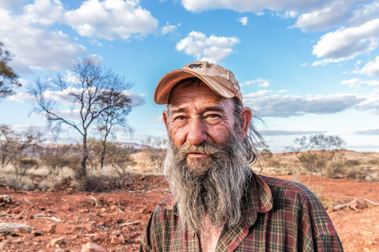 Johnny Day has been looking for gold in the Pilbara for decades