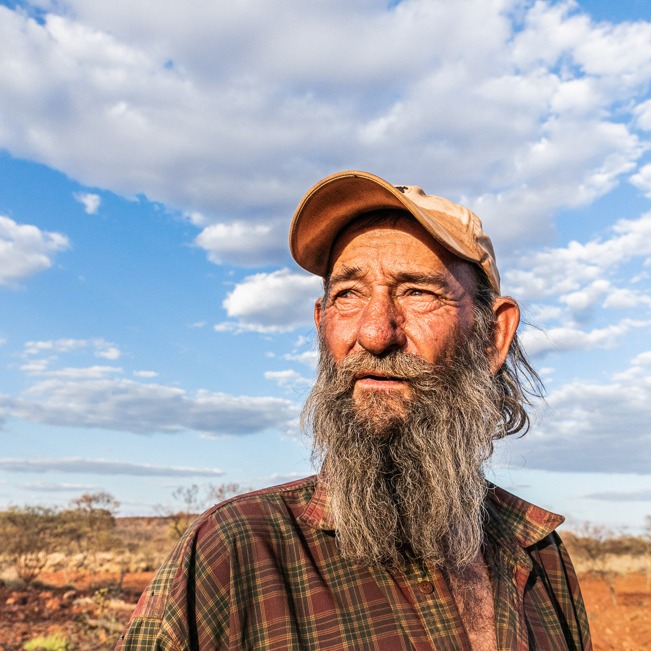 Gold prospector and bushy, Johnny Day, in the Pilbara