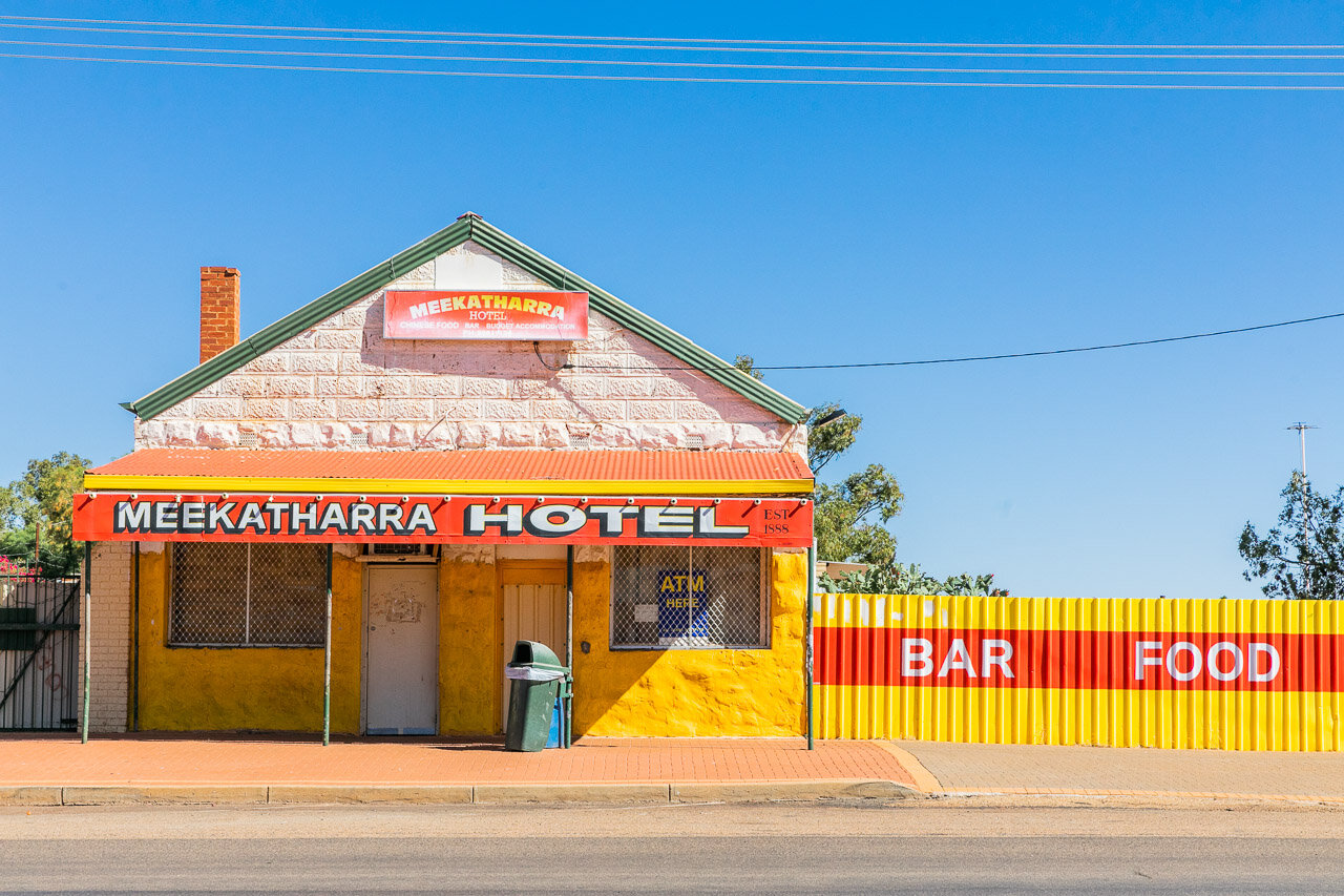 The Meekatharra Hotel on the main Great Northern Highway