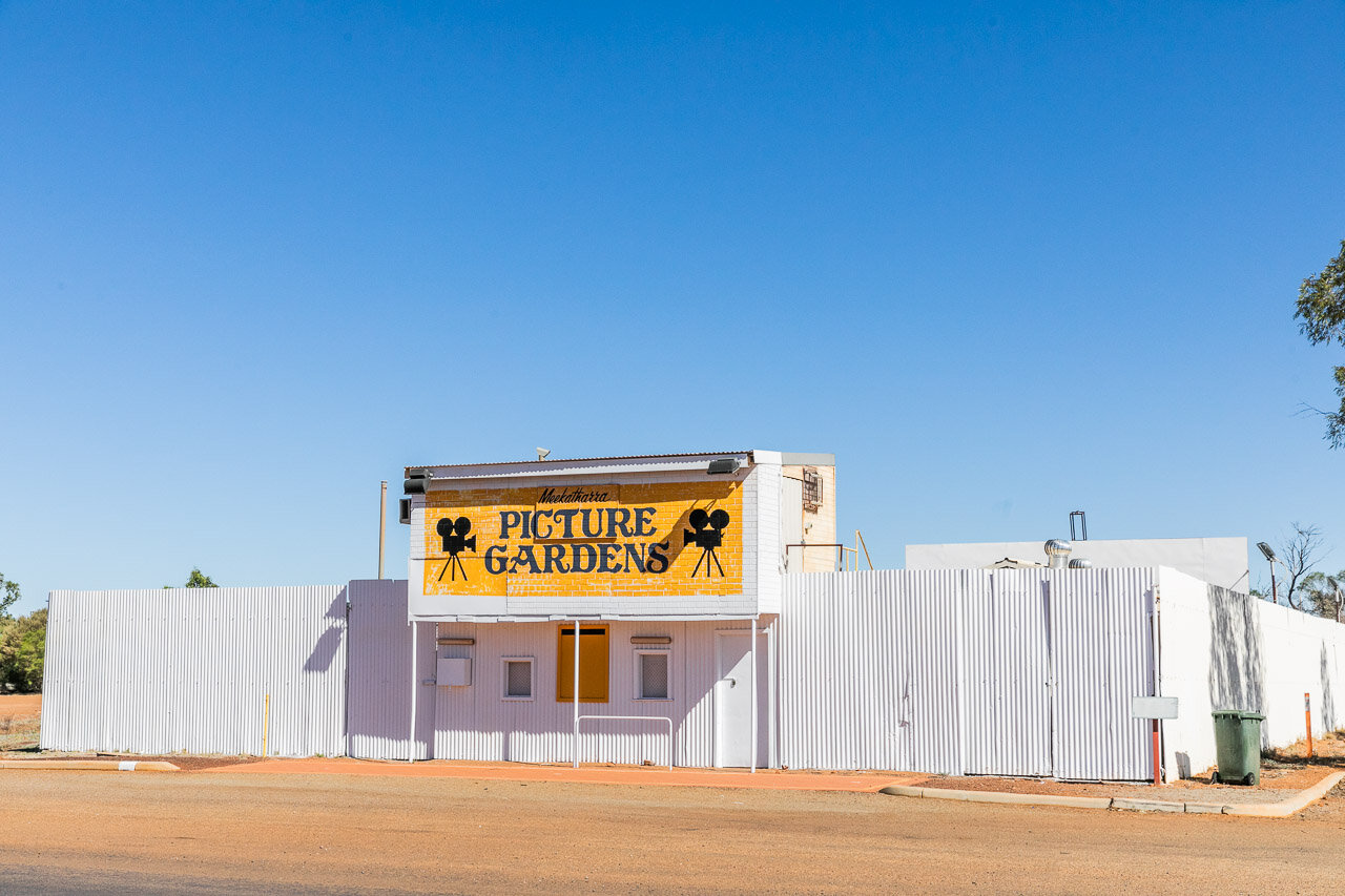 The Meekatharra Picture Gardens - many small towns in remote Western Australia still have outdoor cinemas