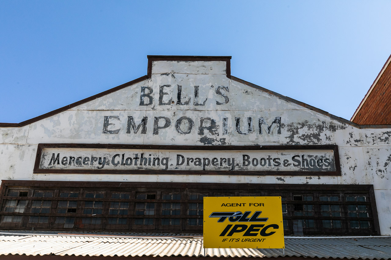 Built in 1904 Bell's Emporium is still Cue's grocery and general store to this day