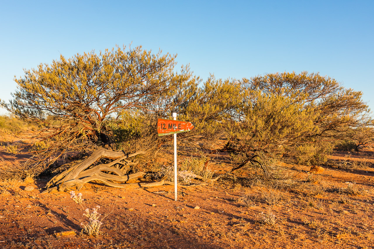 Outback road sign to Twelve Mile