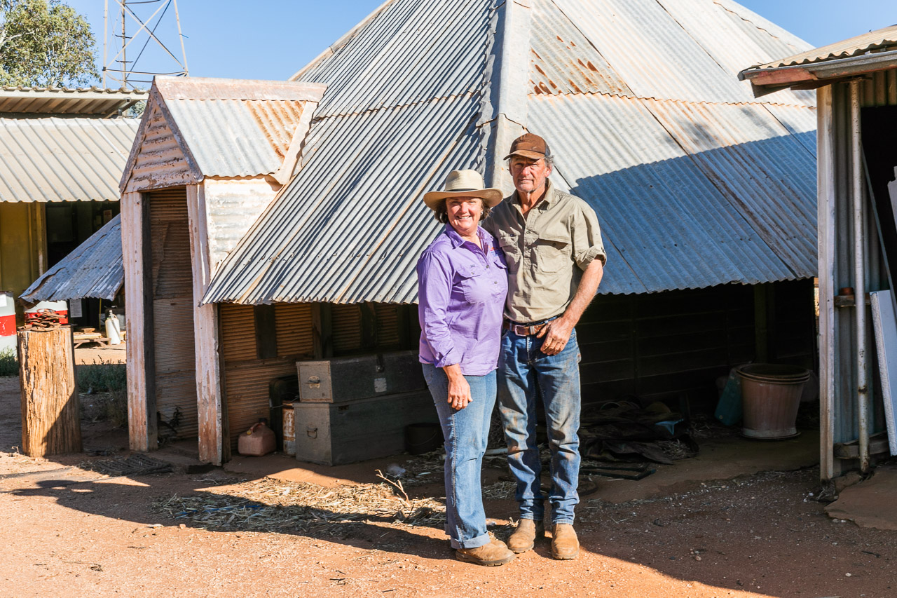Cath and Dave Marett own and run Nallan Station near Cue, WA