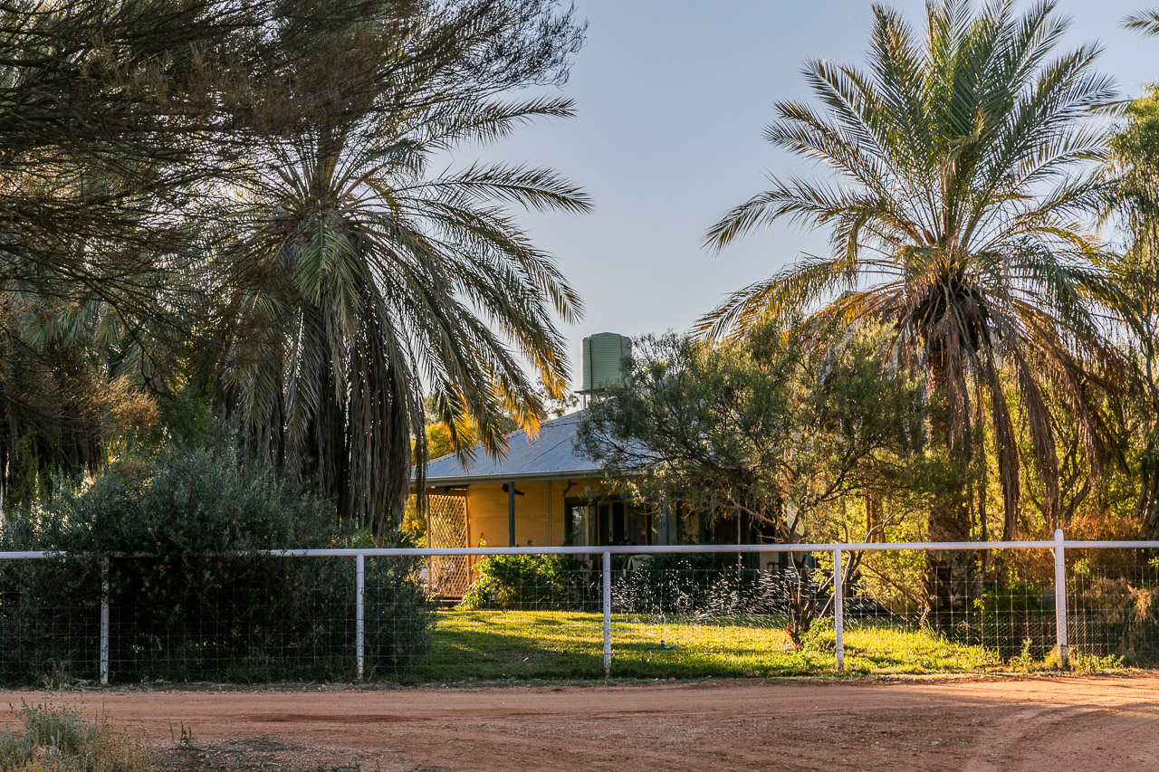 The Nallan Station homestead is an oasis