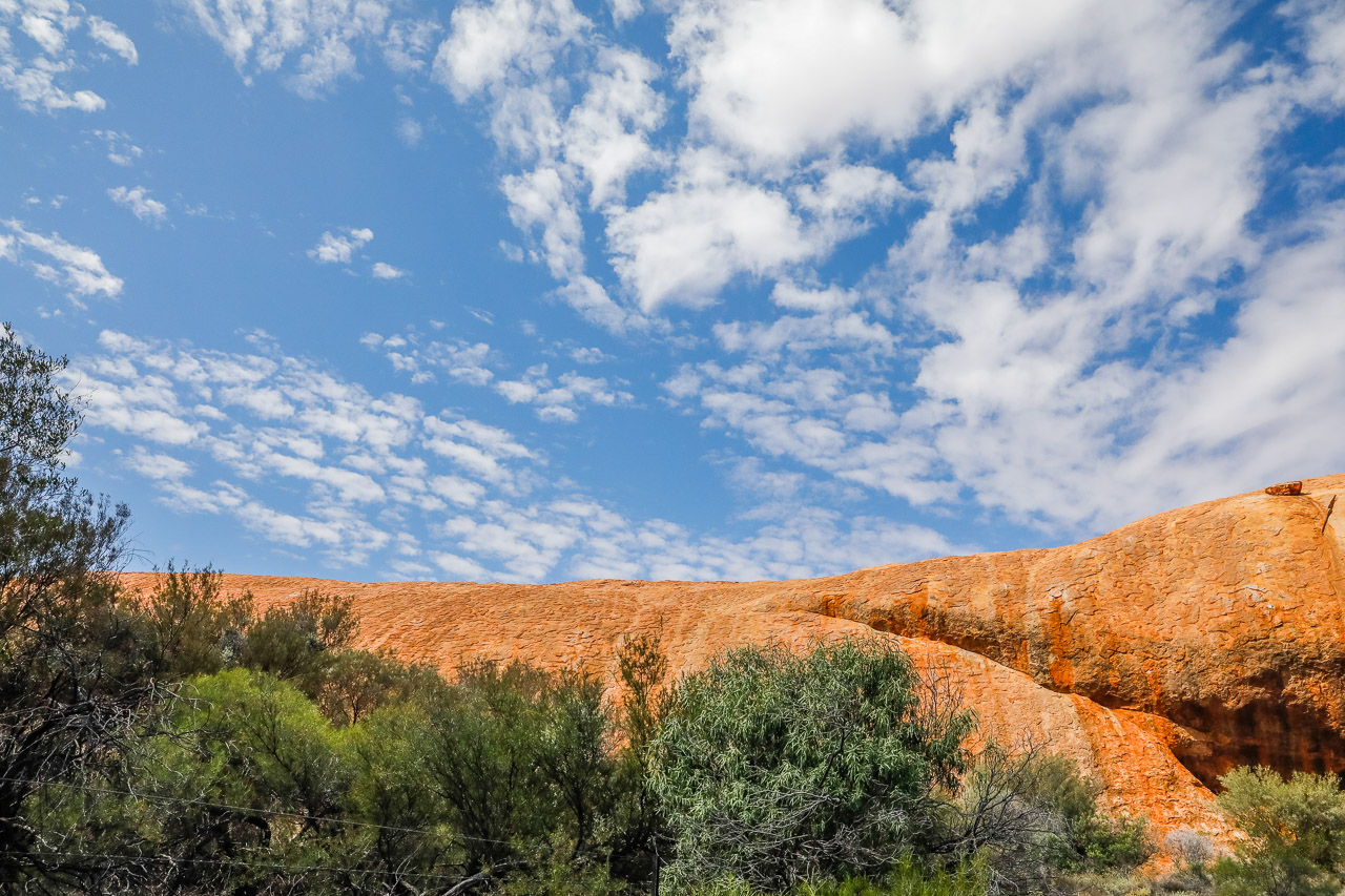 Walga Rock is situated 48 kilometres west of Cue and is a site of deeply significant to the Aboriginal people of this area